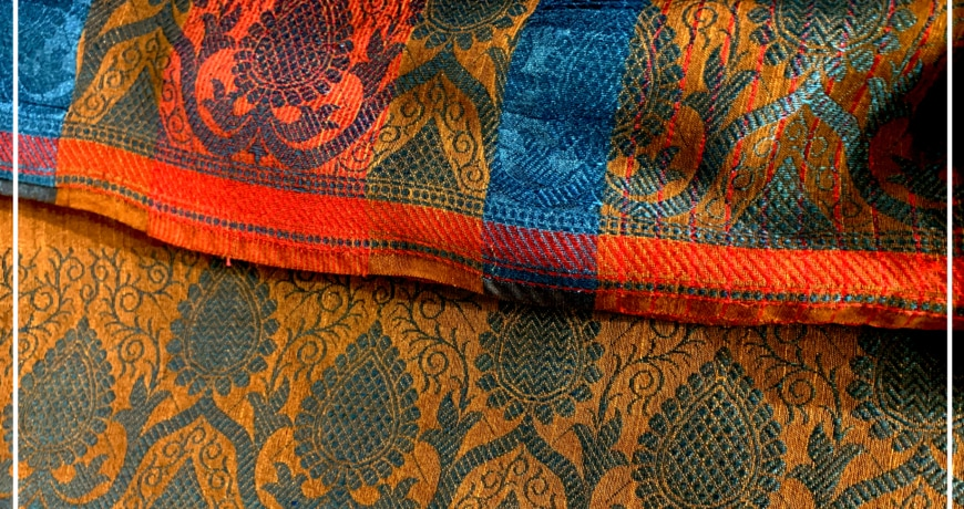 Image result for jacquard saree close up