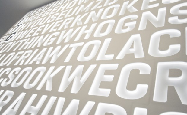 IGT London Acrylic Illuminated Light Wall - Close Up
