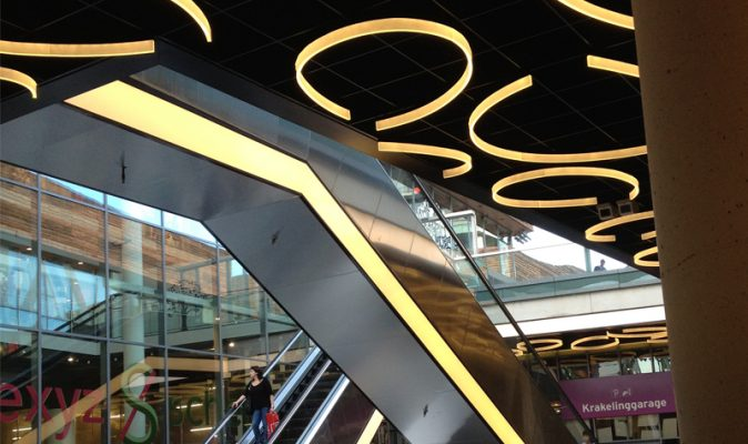 Almere Shopping Centre Bespoke Acrylic Lighting Fixtures