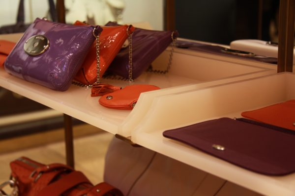 Mulberry Stores Display Shelves