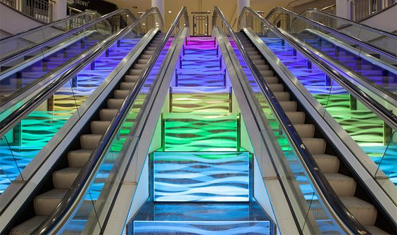 Ilford Exchange Rainbow Escalator