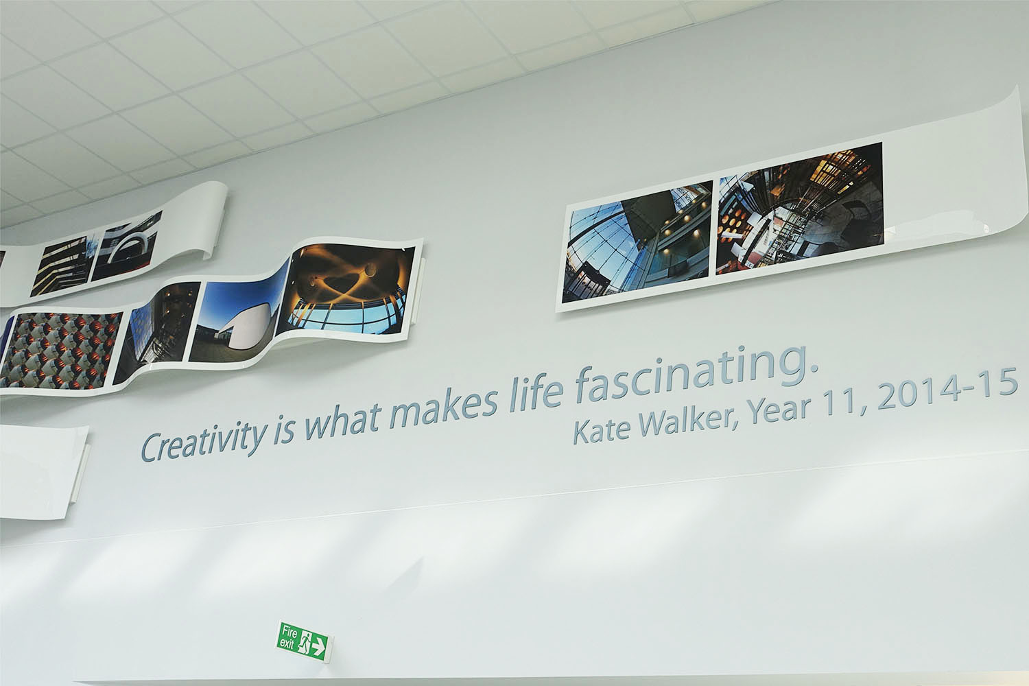 kelvin hall artwork installation close up of quote