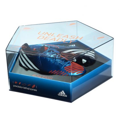 adidas preditor blue acrylic presentation case