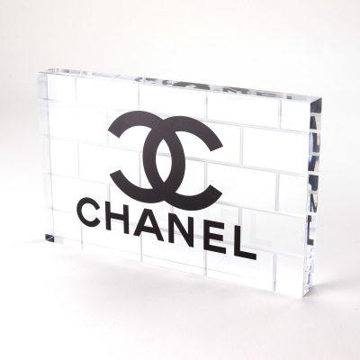chanel acrylic branding block