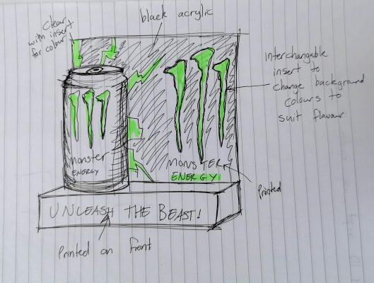 monster energy concept sketch case study