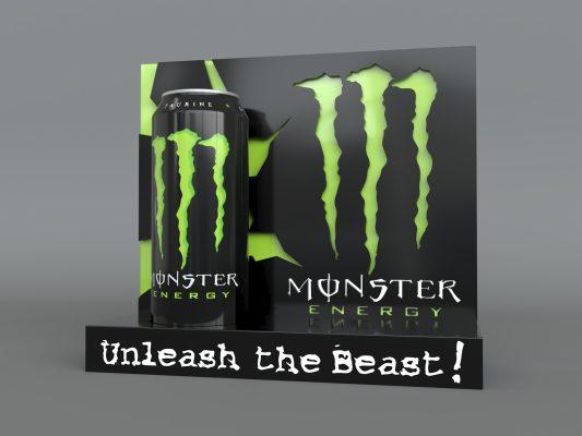monster energy case study initial render green