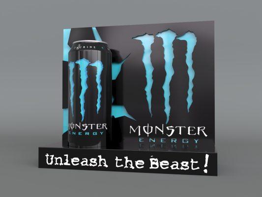 monster energy case study initial render blue