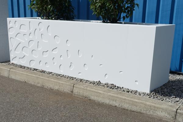 ino-plaz acrylic cut out planter car park