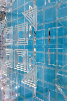 sarah daniels envelope exhibition acrylic artwork close up 5