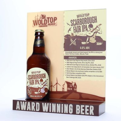 wold top brewery bottle display 2