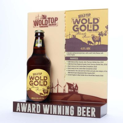 wold top brewery bottle display 1