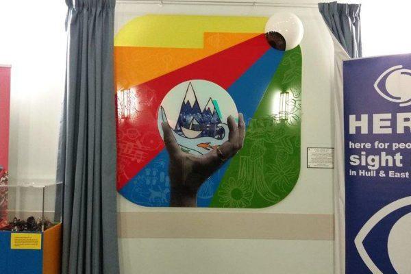 NHS Eye Hospital Acrylic Artwork Installation