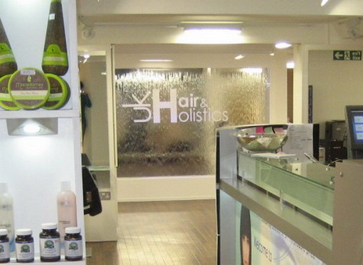 uk hair & holistics acrylic water feature in shop