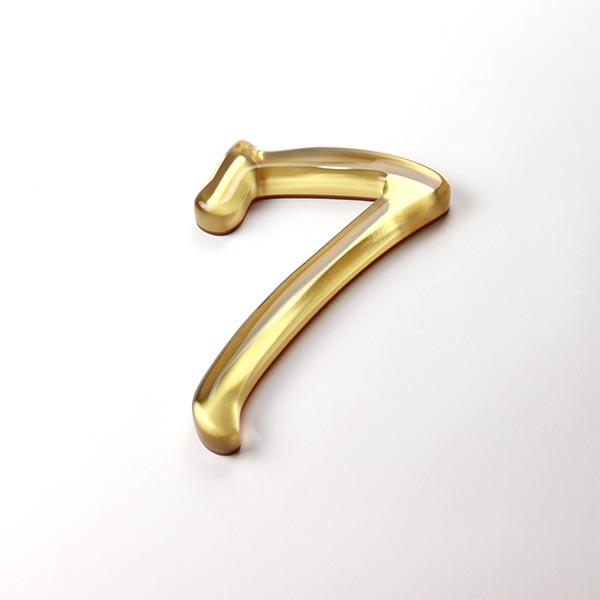 Built Up Number 7 - Gold