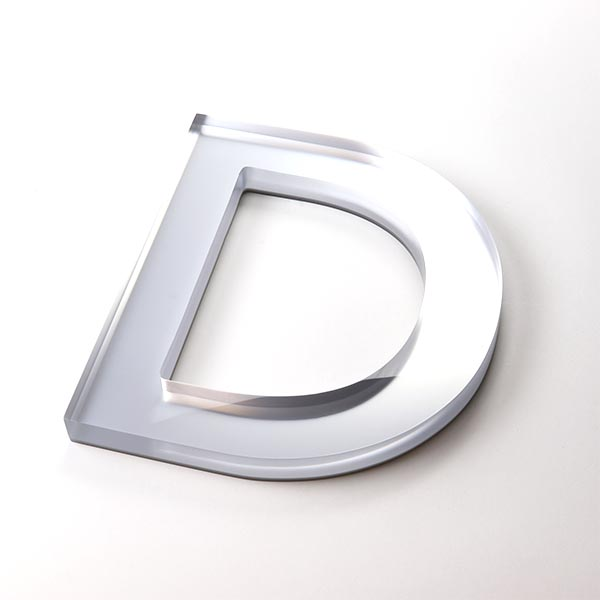Built Up Letter D - Silver