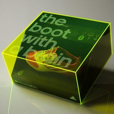 Adidas MiCoach Green Acrylic Presentation Box