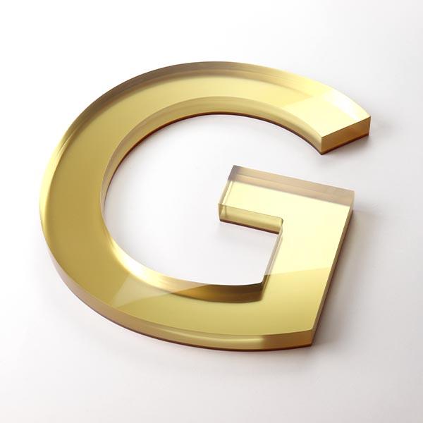 Built Up Letter G - Gold