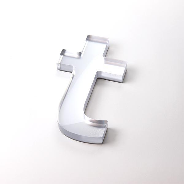 Built Up Letter T - Clear