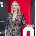 Cate Blanchett wears a fabulous sparkly multicoloured suit