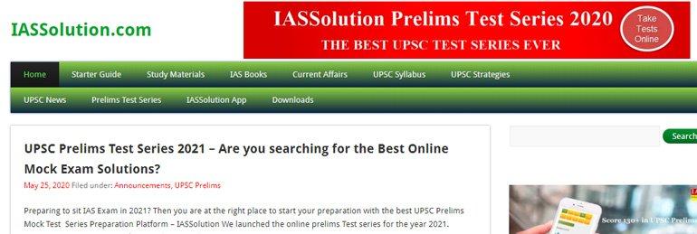 IAS Solution website