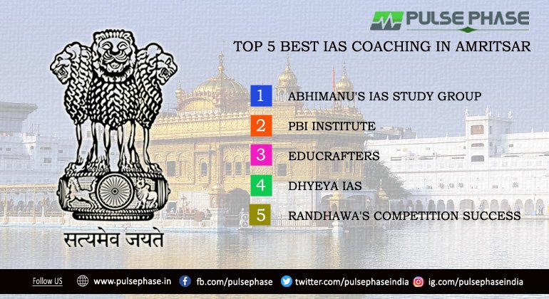 Top 5 IAS Coaching in Amritsar