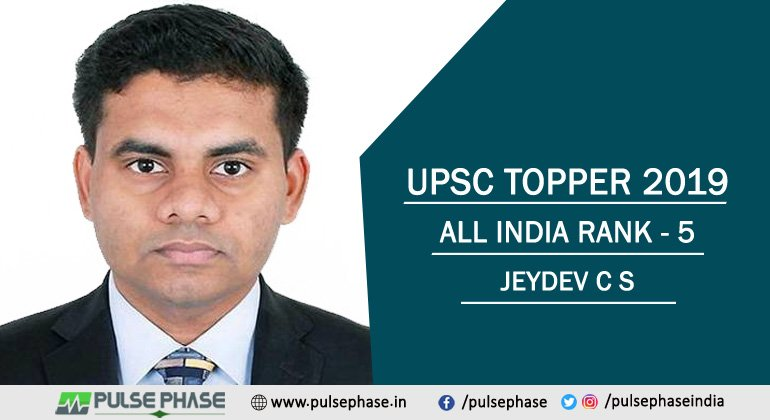 Jeydev C S IAS Topper 2019