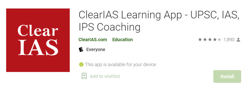 Clear IAS App for IAS Preparation