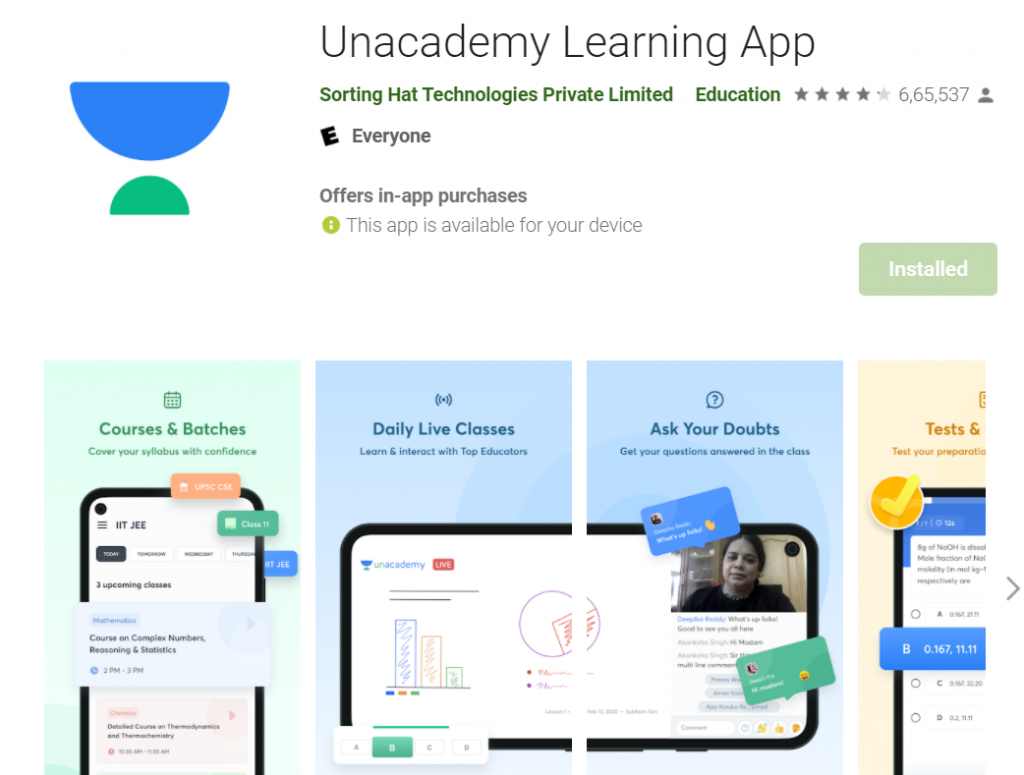 Unacademy App for IAS Preparation