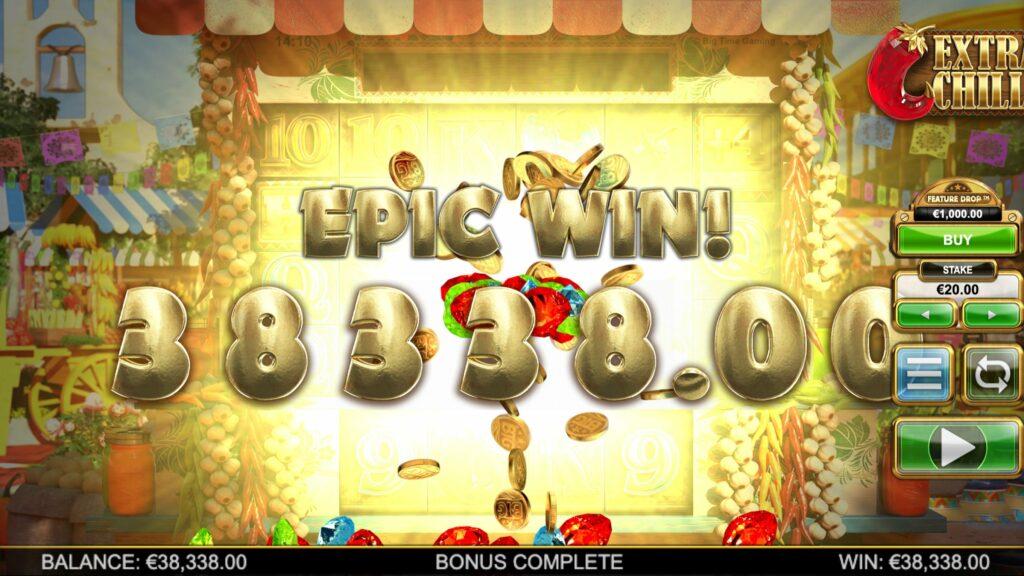 extra chilli slot big win