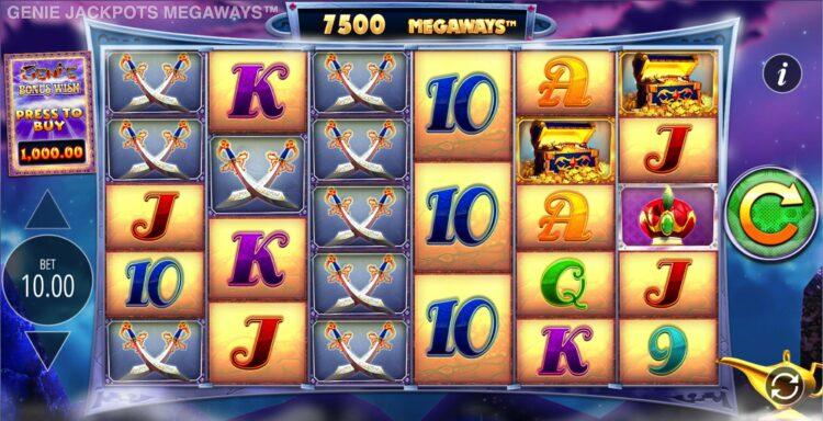 play genie jackpots megaways