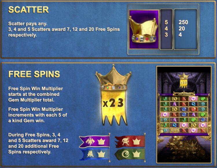 kingmaker free spins