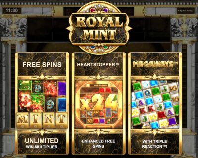 play royal mint megaways slot