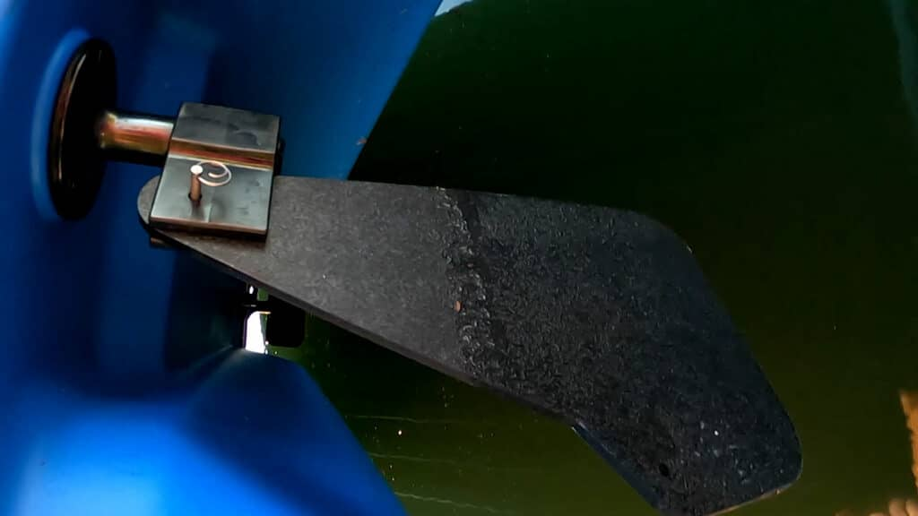 rudder of sun dolphin pedal boat