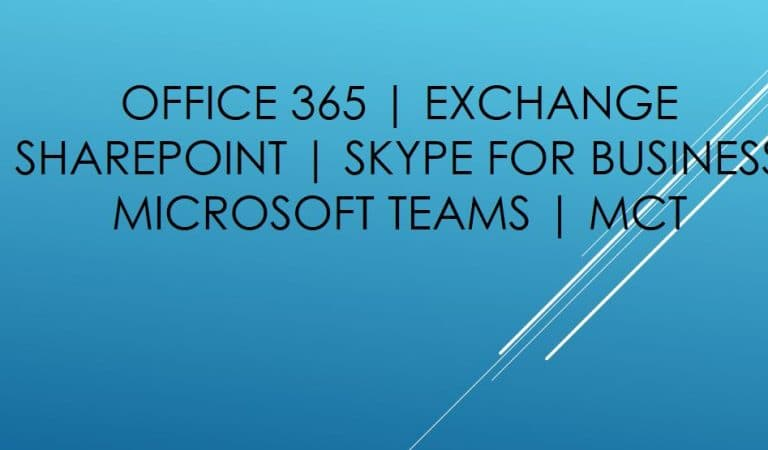 Multiple openings for Microsoft Messaging & Collaboration Professionals – Noida Location