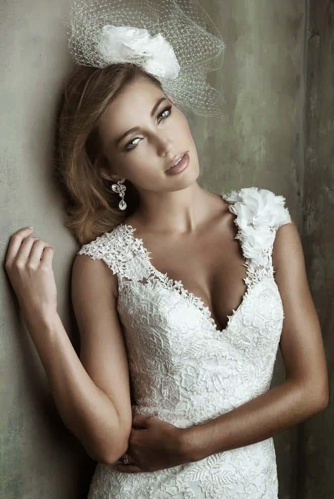 escote vestido boda