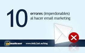 errores mail marketing