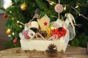 cesta o lote de navidad preparada