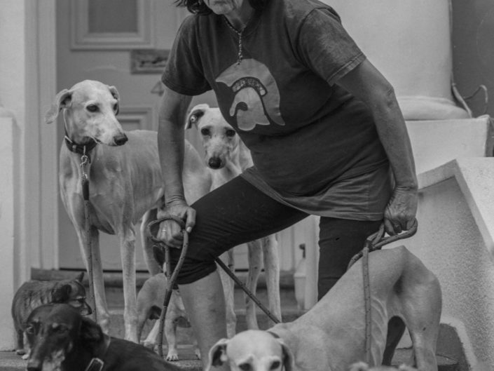'SALUKI JEAN' AND HER DOGS