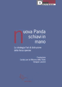 Purple cover of the Italian-language book 'Nuova Panda Schiavi in Mano'