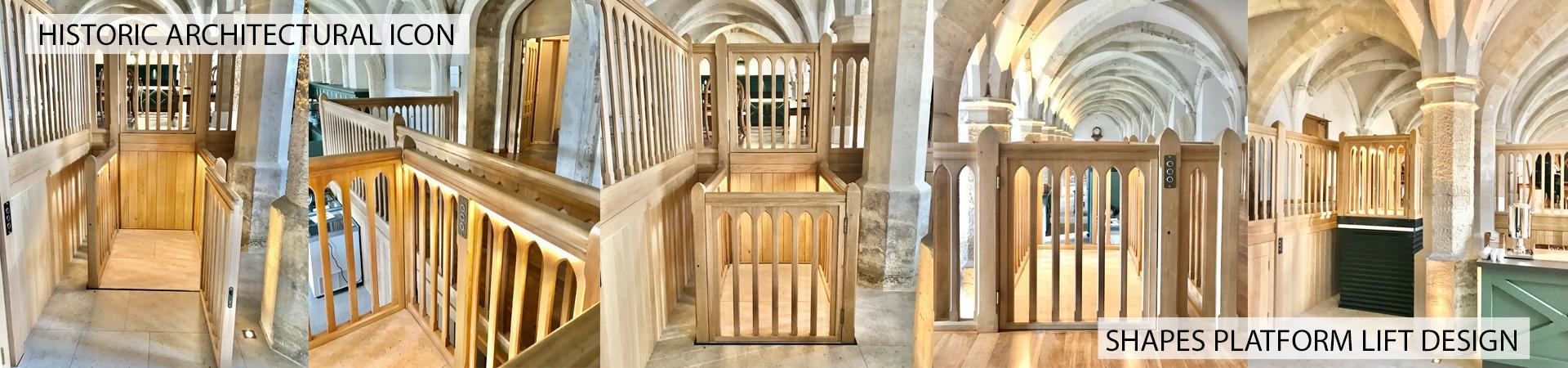 Wood platform lift