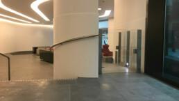 Modern Wheelchair / DDA Lift in lobby