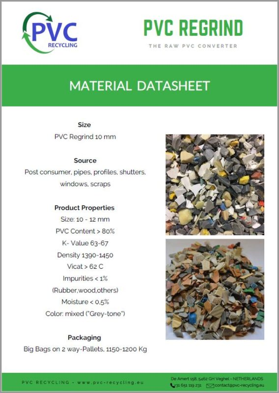 datasheet picture regrind PVC - PVC RECYCLING