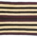 Navajo Classic Chief-style men's wearing blanket with bayeta:, $200,000 - 300,000