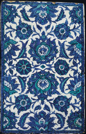 Large Iznik tile, Turkey, ca. 1600.