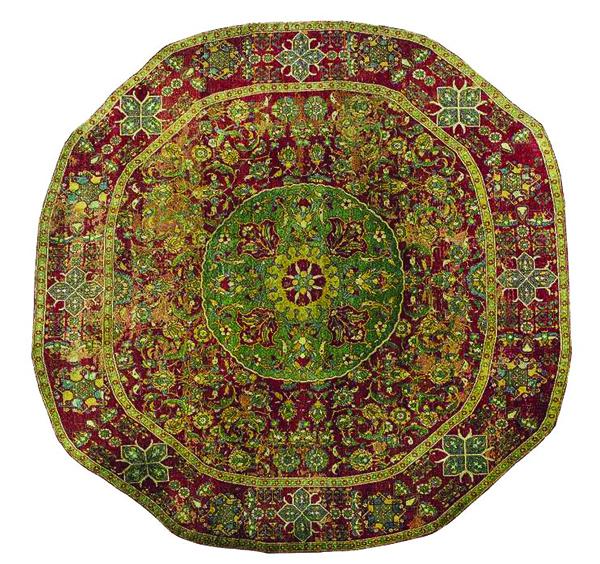 The Sforza Cairene Ottoman round carpet William A. Clark