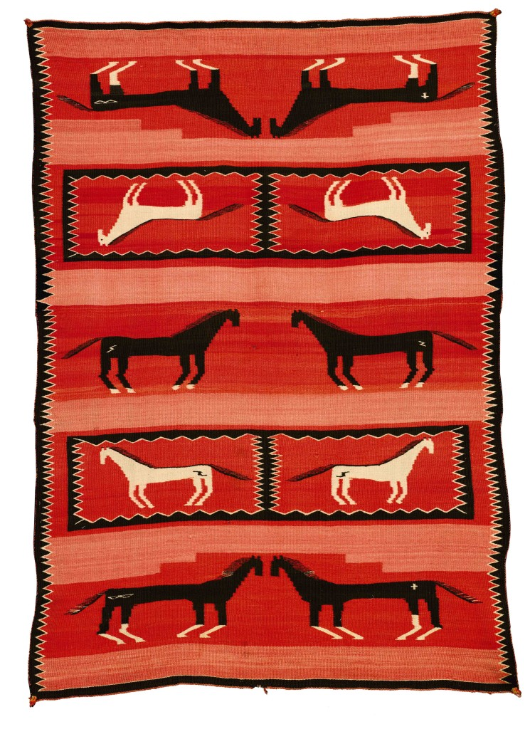 Navajo Early Regional Pictorial Blanket, $7,000 - 10,000