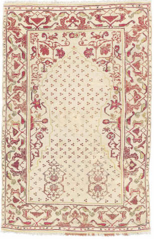 West Anatolian çintamani design prayer rug