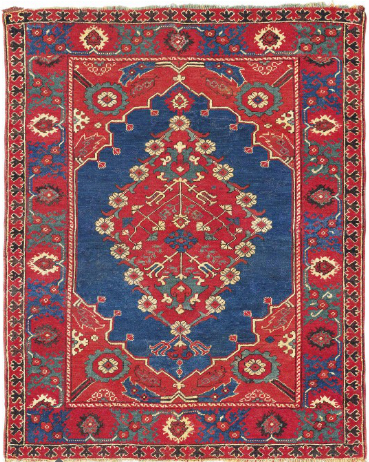 'Transylvanian' double-niche rug, West Anatolia, 17th century.