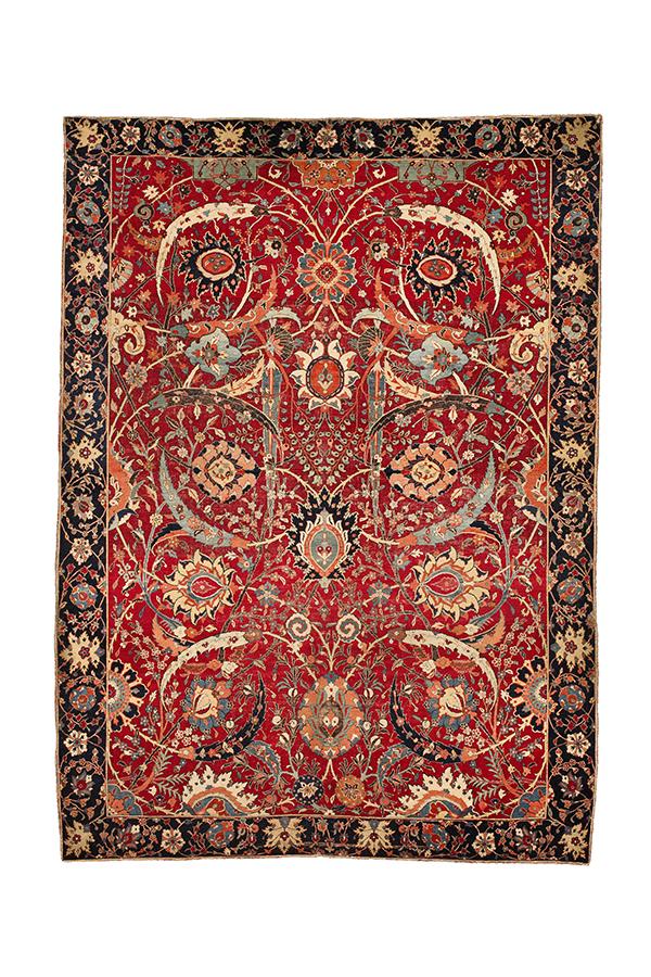 The Clark Sickle Leaf Vase Carpet, Kerman, southeast Persia, 16th  century.  William A. Clark