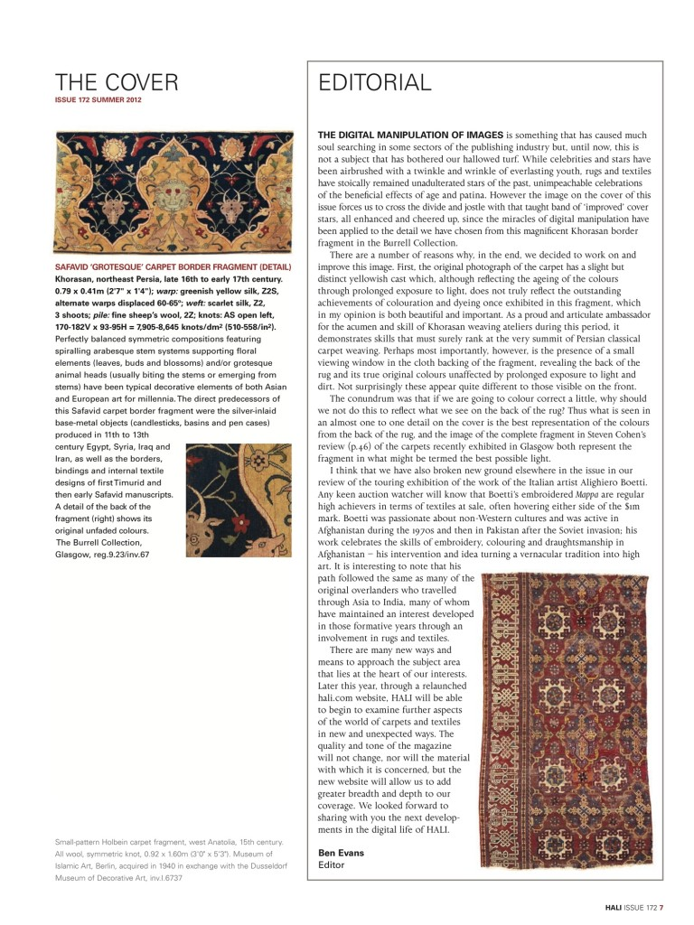 HALI 172 editorial